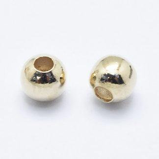 Deze vergulde kralen zijn te koop bij kralenwinkel Limited Edition in de kleur goud in de maat 4mm.