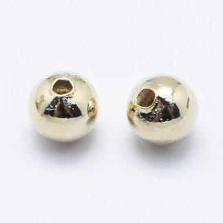 Deze vergulde kralen zijn te koop bij kralenwinkel Limited Edition in de kleur goud in de maat 5mm.