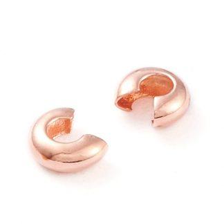 Deze knijpkraal verbergers zijn ideaal om je sieraden netjes mee af te werken en zijn te koop bij kralenwinkel Limited Edition in de maat 3mm in de kleur rose.