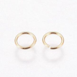 Deze 4x0.6mm open ringen in de kleur goud zijn ideaal om sieraden mee af te werken en te koop bij kralenwinkel Limited Edition in Den Haag.