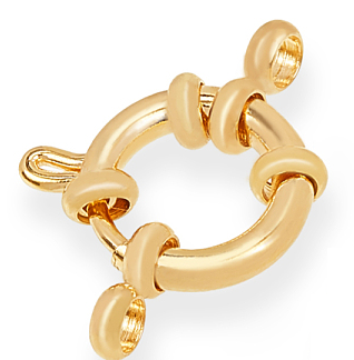 Dit boei slot van 18kt gold plated is te koop bij kralenwinkel Limited Edition in Den Haag in de maat 12,5x4mm in de kleur goud.