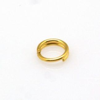 Deze splitringen in de maat 5x1.2mm zijn te koop bij kralenwinkel Limited Edition in de kleur goud.