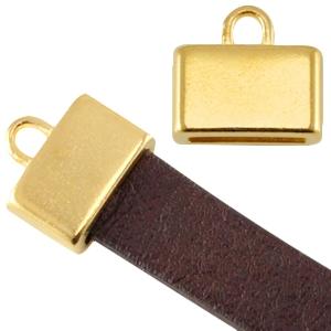 In deze eindkapjes van Designer Quality passen koorden van 10x2mm dik en zijn te koop bij kralenwinkel Limited Edition in Den Haag in de kleur goud.