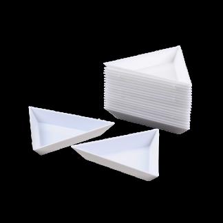 Deze sorteer driehoekjes kan je gebruiken om je kralen te sorteren en zijn te koop bij kralenwinkel Limited Edition in Den Haag.