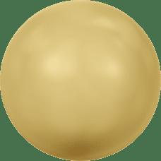Deze glasparel van 6mm van Swarovski is te koop bij kralenwinkel Limited Edition in Den Haag in de kleur Crystal Gold Pearl.