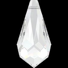 De 6000 drop pendant van Swarovski heeft een gat en is te koop bij kralen winkel Limited Edition in Den Haag in de kleur Crystal.