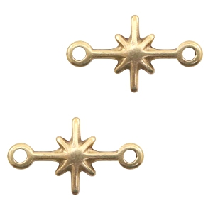 Deze bedel van Designer Quality in de vorm van een ster zijn te koop bij kralenwinkel Limited Edition in Den Haag in de kleur brons.