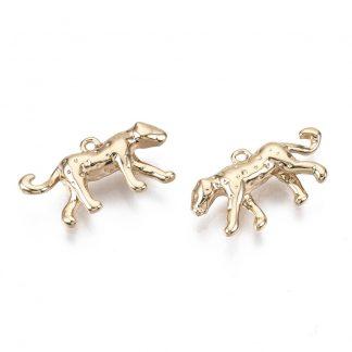 Deze bedel in de vorm van een luipaard is te koop bij kralenwinkel Limited Edition in de kleur goud.