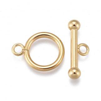 Dit kapittel slot is te koop bij kralenwinkel Limited Edition in Den Haag in de kleur goud.