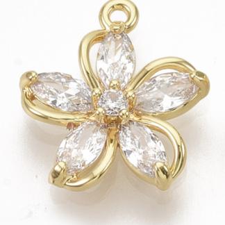 Deze bedel in de vorm van een bloem is te koop bij kralenwinkel Limited Edition in de kleur goud.