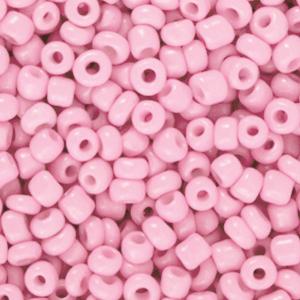Deze leuke budget rocailles zijn ideaal om hippe sieraden te maken en zijn te koop bij kralenwinkel Limited Edition in Den Haag in de kleur azalea roze.