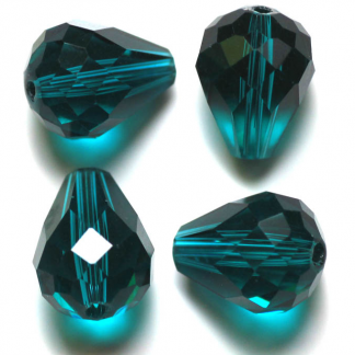Deze glazen facet druppel kralen zijn te koop bij kralenwinkel Limited Edition Den Haag in de kleur green.