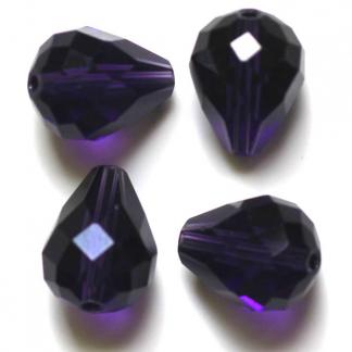 Deze glazen facet druppel kralen zijn te koop bij kralenwinkel Limited Edition Den Haag in de kleur purple velvet.