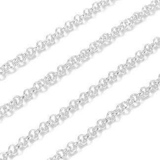 Deze jasseron ketting is te koop bij kralenwinkel Limited Edition in Den Haag in de maat 3x1mm in de kleur zilver.