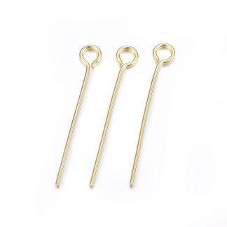Deze kettelstiften zijn te koop bij kralenwinkel Limited Edition in Den Haag in de maat 22mm in de kleur goud.