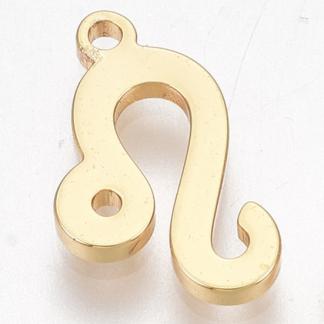 Deze bedel van roestvrijstaal is te koop bij kralenwinkel Limited Edition in Den Haag in de kleur goud in de vorm leeuw.