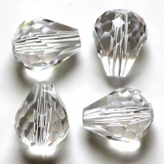 Deze glazen facet druppel kralen zijn te koop bij kralenwinkel Limited Edition Den Haag in de kleur crystal.
