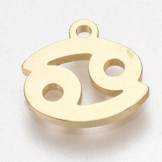 Deze bedel van roestvrijstaal is te koop bij kralenwinkel Limited Edition in Den Haag in de kleur goud in de vorm kreeft.