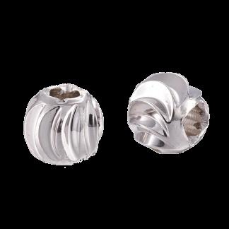 Deze platinum plated kralen met groeven zijn te koop bij kralenwinkel Limited Edition in de kleur goud in de maat 4x3mm.