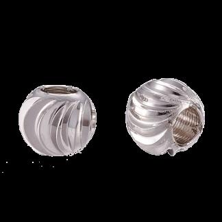 Deze platinum plated kralen met groeven zijn te koop bij kralenwinkel Limited Edition in de kleur goud in de maat 5x4mm.