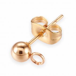 Deze oorstkers van RVS zijn te koop bij kralenwinkel Limited Edition in de maat 4mm in de kleur goud.