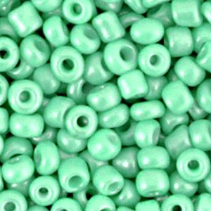 Deze leuke budget rocailles zijn ideaal om hippe sieraden te maken en zijn te koop bij kralenwinkel Limited Edition in Den Haag in de kleur helder groen.