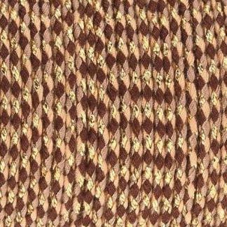 Dit gevlochten katoen koord is te koop bij kralenwinkel Limited Edition in Den Haag in de kleur bruin beige goud.