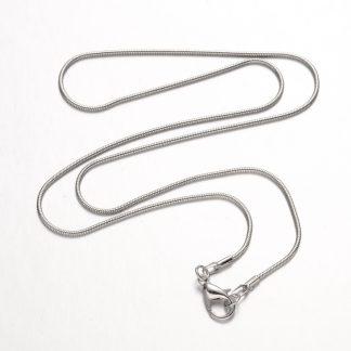 Deze messing ketting is te koop bij kralenwinkel Limited Edition in Den Haag in de kleur antiek zilver.