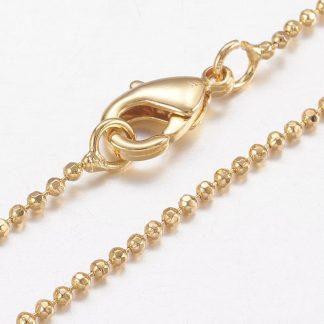 Deze gold plated ketting is te koop bij kralenwinkel Limited Edition in Den Haag.
